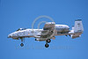 A-10USAF 00304 A landing Fairchild USAF A-10 Thunderbolt II attack jet 79120 BD code with warthog nose markings 8-1997 military airplane picture by Michael Grove, Sr