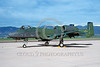 A-10USAF 00001 A static Fairchild A-10 Thunderbolt II USAF attack jet 78652 TC code lizard color scheme military airplane picture via African Aviation Slide Service