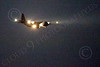 WWAN 00080 A Lockheed C-130 Hercules USAF cargo aircraft on final approach to land at Nellis AFB after a night Red Flag mission military airplane picture by Peter J Mancus