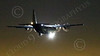 WWAN 00041 A Lockheed C-130 Hercules USAF lands at Nellis AFB during a night Red Flag training exercise military airplane picture by Peter J Mancus