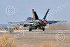 Boeing F-18E-USN 00221 A Boeing F-18E Super Hornet USN 166859 VFA-115 EAGLES commanding officer's airplane USS George Washington NF code with large bomb takes off in afterburner at NAS Fallon 2-2015 military airplane picture by Peter J Mancus