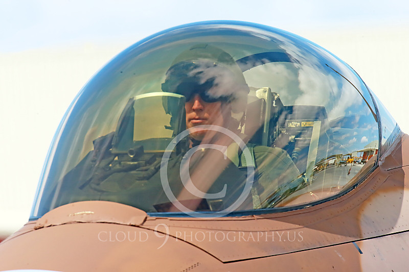 ACM 00320 A male USN TOP GUN F-16 Viper fighter pilot in the cockpit at NAS Fallon 2014, by Peter J Mancus