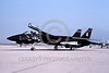 EE-F-14USN 00001 A static black with Playboy bunny Grumman F-14 Tomcat swing wing jet fighter US Navy VX-4 THE EVALUATORS NAS Pt Mugu 11-1987 military airplane picture by Mick Roth