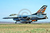 EE-F-16Forg 00003 A taxing colorful Dutch Air Force Lockheed Martin F-16 Fighting Falcon jet fighter J-366 4-2004 military airplane picture by Raymond Bossellar