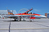 EE-F-18Forg 0004 A static colorful McDonnell Douglas CF-18 Hornet Canadian Armed Forces jet fighter 7-2001 military airplane picture via African Aviation Slide Service