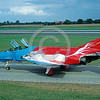 EE-F-4Forg 00024 A static colorful McDonnell Douglas F-4 Phantom II German Air Force jet fighter 9-1996 military airplane picture via African Aviation Slide Service