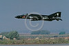 EE-F-4USN 00004 A flying McDonnell Douglas F-4 Phantom II US Navy jet fighter VX-4 THE EVALUATORS NAS Pt Mugu 10-1989 military airplane picture by Peter J Mancus