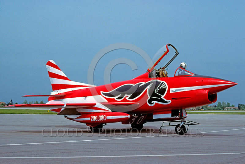 EE-G91 00003 A static colorful beautiful Fiat G91 Italian Air Force attack jet 5-1987 military airplane picture by Henzo Sacchetti via African Aviation Slide Service