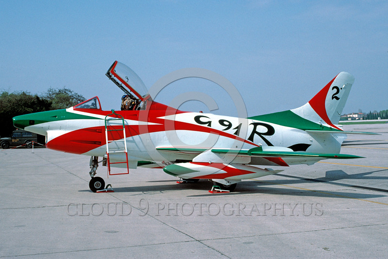 EE-G91R 00001 A static colorful Fiat G91R Italian Air Force attack jet military airplane picture by Wilfried Zetsche