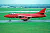 EE-Hunter 00001 A taxing red Hawker Hunter British RAF jet fighter 10-1983 military airplane picture by S W D Wolf