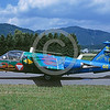 EE-SAAB 105 00001 A taxing colorful SAAB 105 Austrian Air Force jet trainer 7-2000 military airplane picture by Marinus Tabak