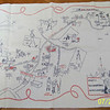 """USNTC BAINBRIDGE - 16"""" x 24"""" Souvenir Tea Towel Map of the Naval Base.  Circa 1950's.  Picked up from EBay for sale by Maggie Cullen."""