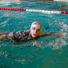CPT Erika Huerta, a soldier from the United states Army Public Health Command, qualifying at the swim test to gain the German Armed Forces Badge.