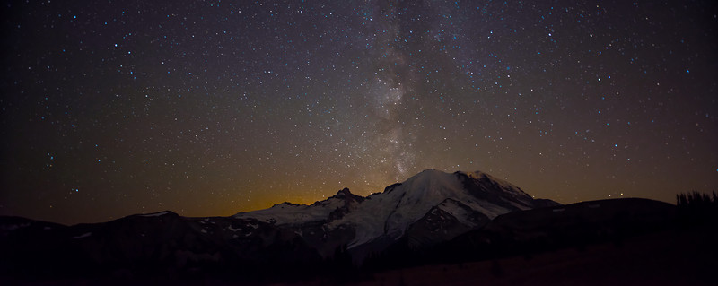 Milky Way over Mount Rainier