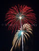 The 4th of July fireworks at Moorhead, Minnesota, USA.