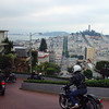 Vintage bikes on Lombard St, San Francisco
