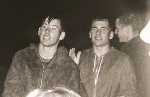 1966_11; mike lee, bruce lewis, mark schneider; sheridan football game