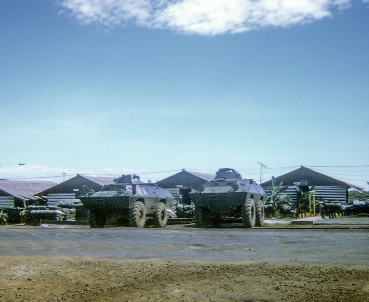 lightly armored vehicles Camp Evans 1971