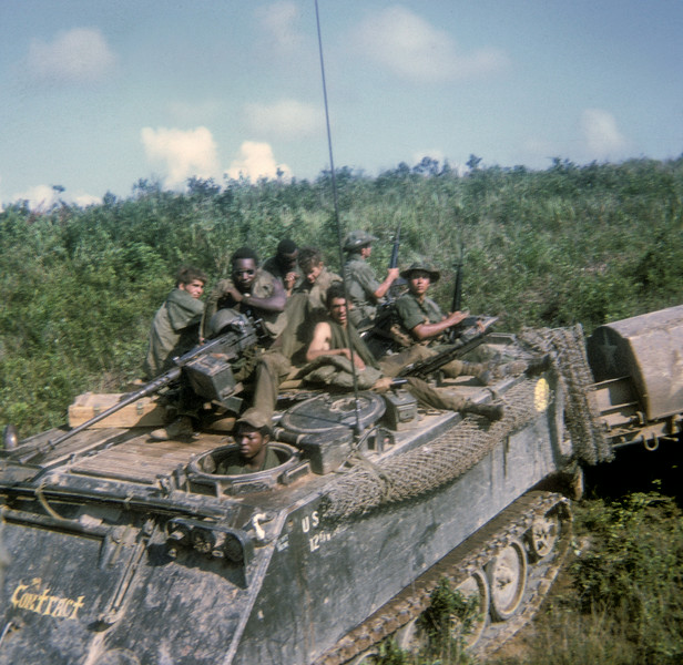 with 3/5th Cav in lowlands 1971