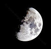 Spring Moon from Langbank - 10 March 2014