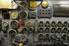Engine room controls on the USS Hornet WWII aircraft carrier