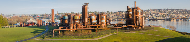 Gasworks Park panorama. Multiple images taken with a 100mm lens, then stitched to produce a 24162 x 5438 final image (that's 131MP!).