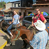 Later, Ashely and Cody take a horseback ride at our shopping location.