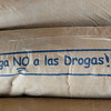 """A cement sack seemed an odd place for the message - """"Say NO to drugs!"""""""