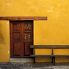 Oaxaca Yellow Wall- Bench and Door