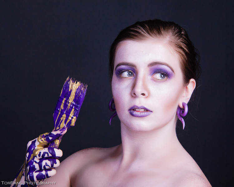 Purple Brush Shoot Model Serenity  MUA Christine Mcallister  Photographer Torsten Bangerter