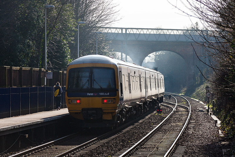 18th Feb 13:  The 13.18 from Paddington to Bedwyn is seen running through Reading West