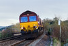 7th Feb 14:  66160 heading 6V41 the afternoon depertmental ffrom Eastleigh to Westbury  aat Dilton Marsh