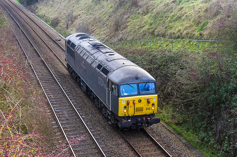 5th Dec 14:  Snapped at Upton Scudamore is D&Cr 56312 travelling as 0Z56 from Totton to Bristol Barton Hill