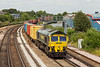 2nd Jul 14:  4O49 from Crewe Basford Hall to Southampton powered by 66503 from The Mount Pleasant foot bridge