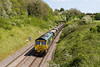 15th May 14:  66553 heads 4V47 empties from Rugeley Power Station to Stoke Gifford away from Wickwar Tunnel