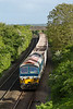 2nd Jun 2015:  59101 on the point of 6V12 empties from Woking to Merehead starting the drop down to Westbury at Upton Scudamore