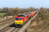 18th Mar 2015:  In perfect light at Coedkernew 60017  heads the STP 6B35 the 11.06 from Westerleigh Murco to Robeston