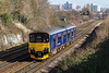 10th Mar 2015:  The 09.00 from Cardiff to Plymouth, 2C69, buzzes through towards Parson Street.  150104 is due to arrive at Plymouth at 12.41  It actually arrive 15 minutes late.