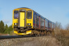 2nd Mar 2015:  Slowig for the stop at Dilton Marsh 150248 is working 2F94 the 10.08 from Westbury to Warminster.  It will then reverse and form 2C12 the 10.25 back to Westbury