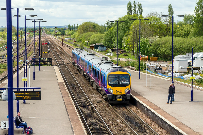 20th May 2015:  185110 arriving at Barnetby  5 minutes early with 1B72 the 09.55 from Manchester Airport to Grimsby.  The head booard read   'Preinst aborted'   ??