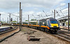 16th May 2015:  Grand Central HST 43469 arriving at Platform 5 at York with 1A65 the 12.18 from Sunderland to Kings Cross