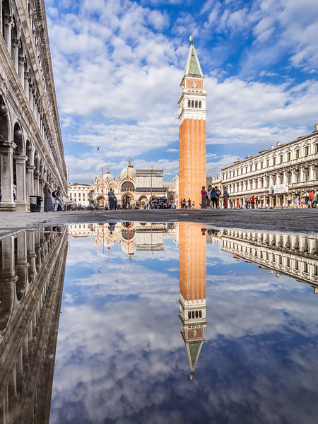 Campanella Reflected in San Marco's, Venice