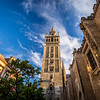 Looking Up at the Giralda, Seville