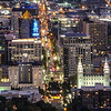 Downtown Night Closeup, Salt Lake City, Utah, USA
