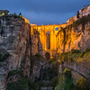 Nightfall on Ronda, Spain