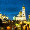 Kremlin Cathedrals at Dusk, Moscow, Russia