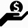 Hand with Money Symbol - Black