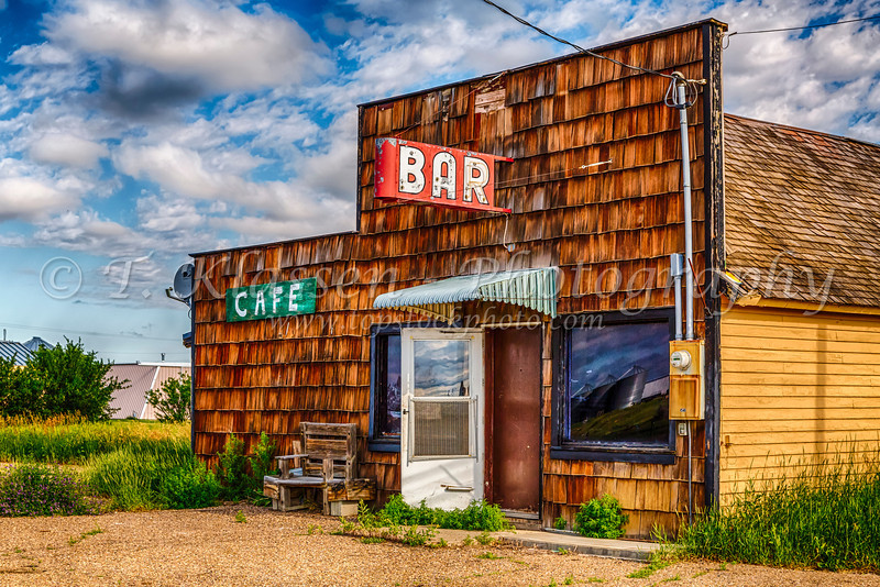 A Bar Cafe in Gilford, Montana, USA.