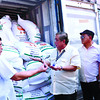 Cebu Customs seizes smuggled rice declared as stone slabs
