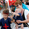 August 14, 2014, Children's Gala Parade during the Moors and Christians (Moros y Cristianos) Festival in Denia, Alicante, Spain